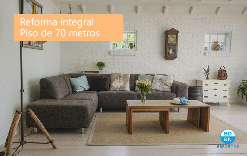 ¿Cuánto cuesta la reforma integral de un piso de 70 metros?