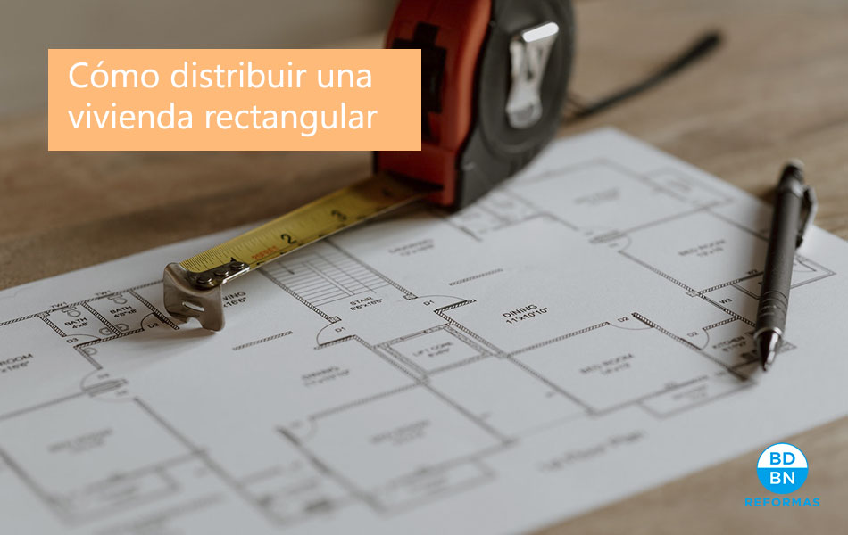 distribuir vivienda rectangular